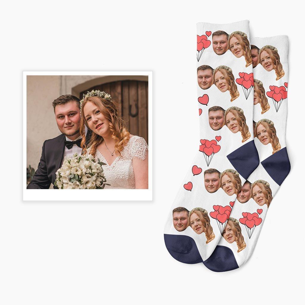 ponožky s vlastní fotkou srdíčka