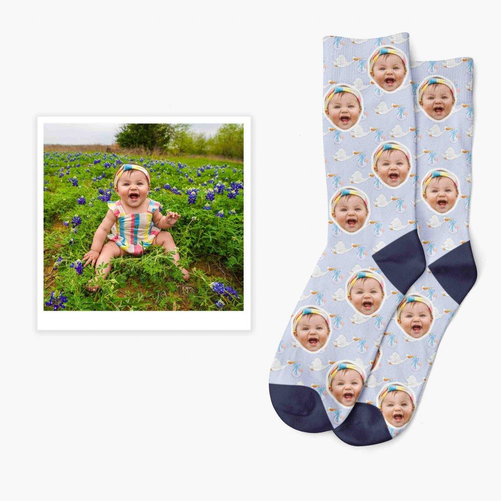 ponožky s miminkem