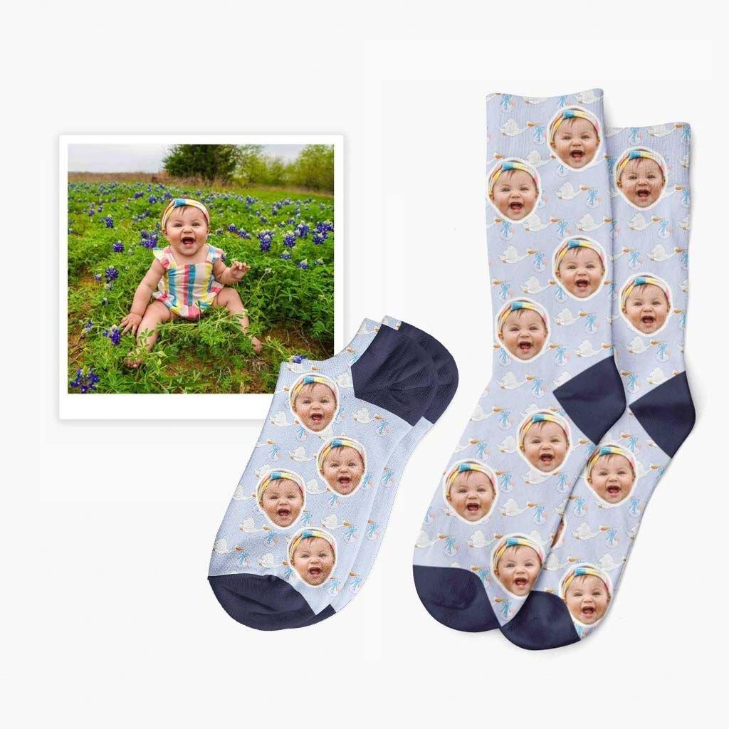 vlastní ponožky s fotkou miminka