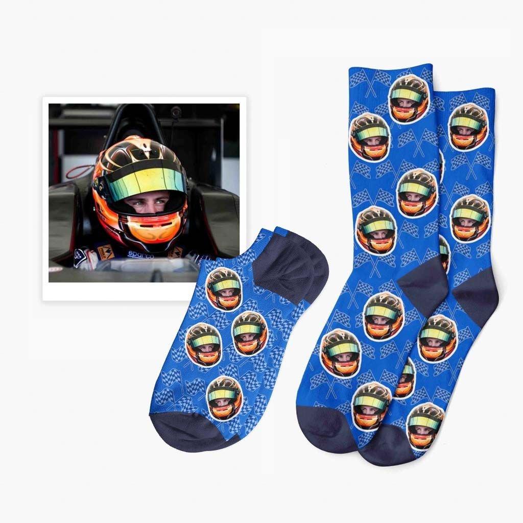 závodní ponožky s fotkou