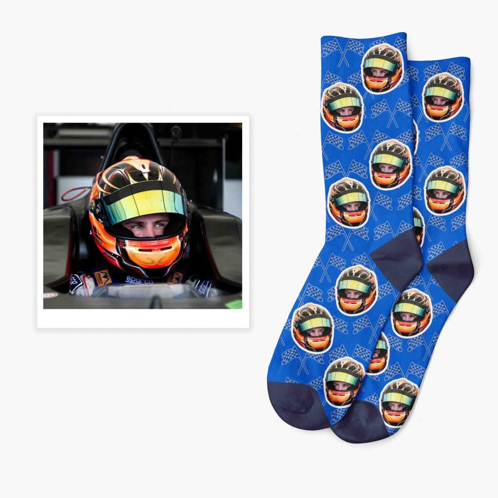 závodní ponožky s potiskem