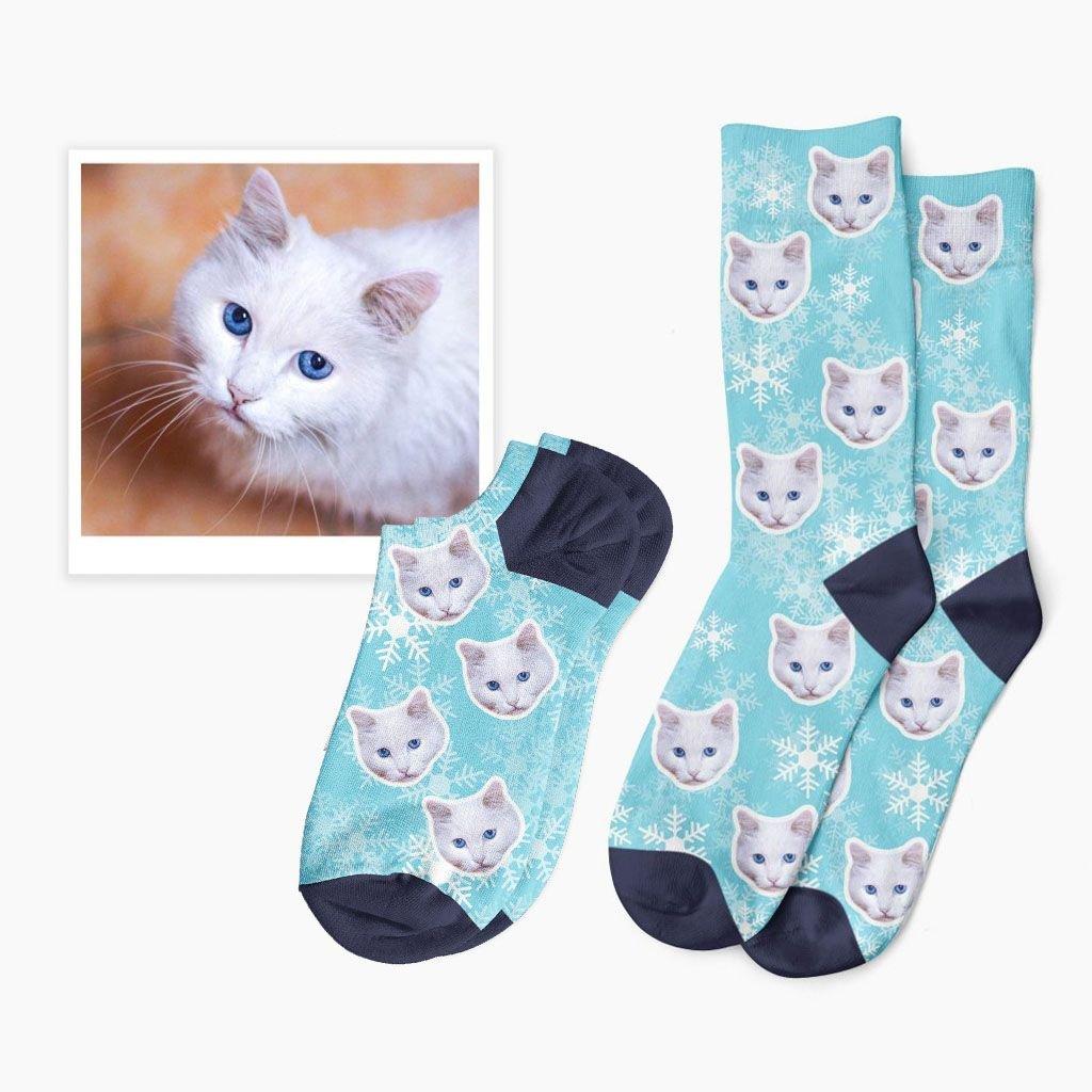 zimní ponožky s kočkou