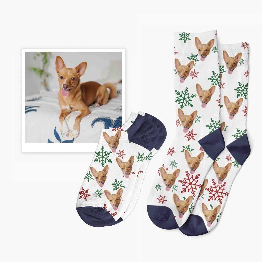 vánoční ponožky s fotkou