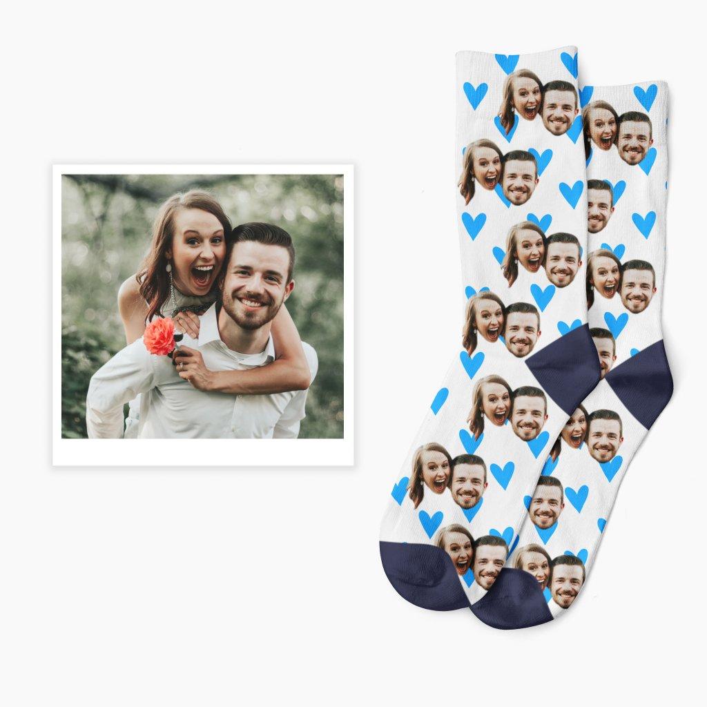 ponožky s vlastní fotkou zamilované
