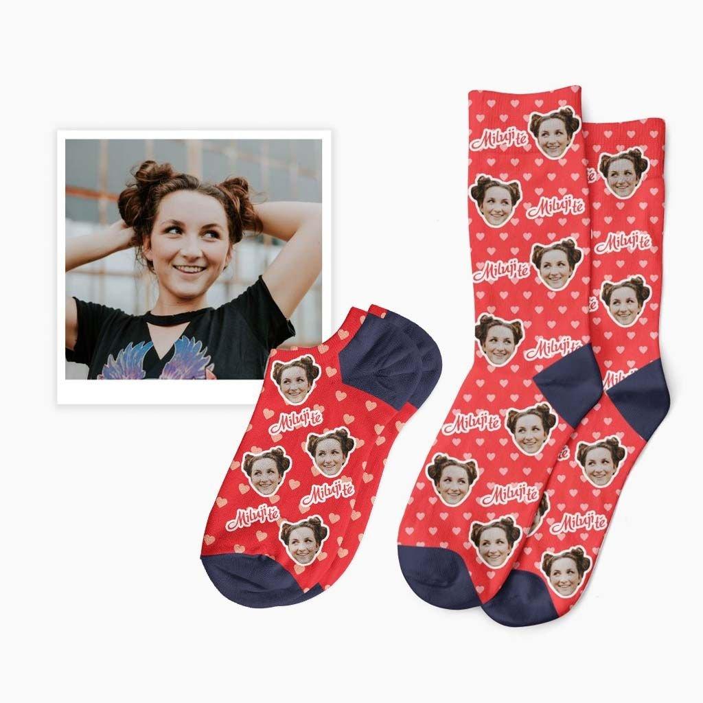 ponožky s potiskem romantické
