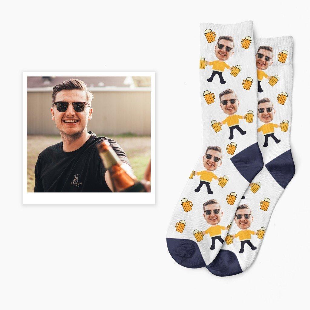 ponožky s vlastním potiskem pivo pivní ponožky