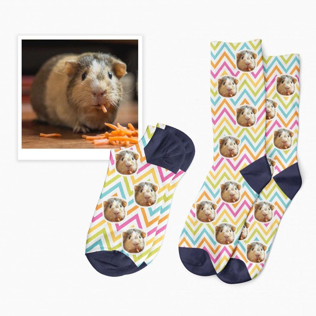 veselé ponožky s fotkou zvířátka