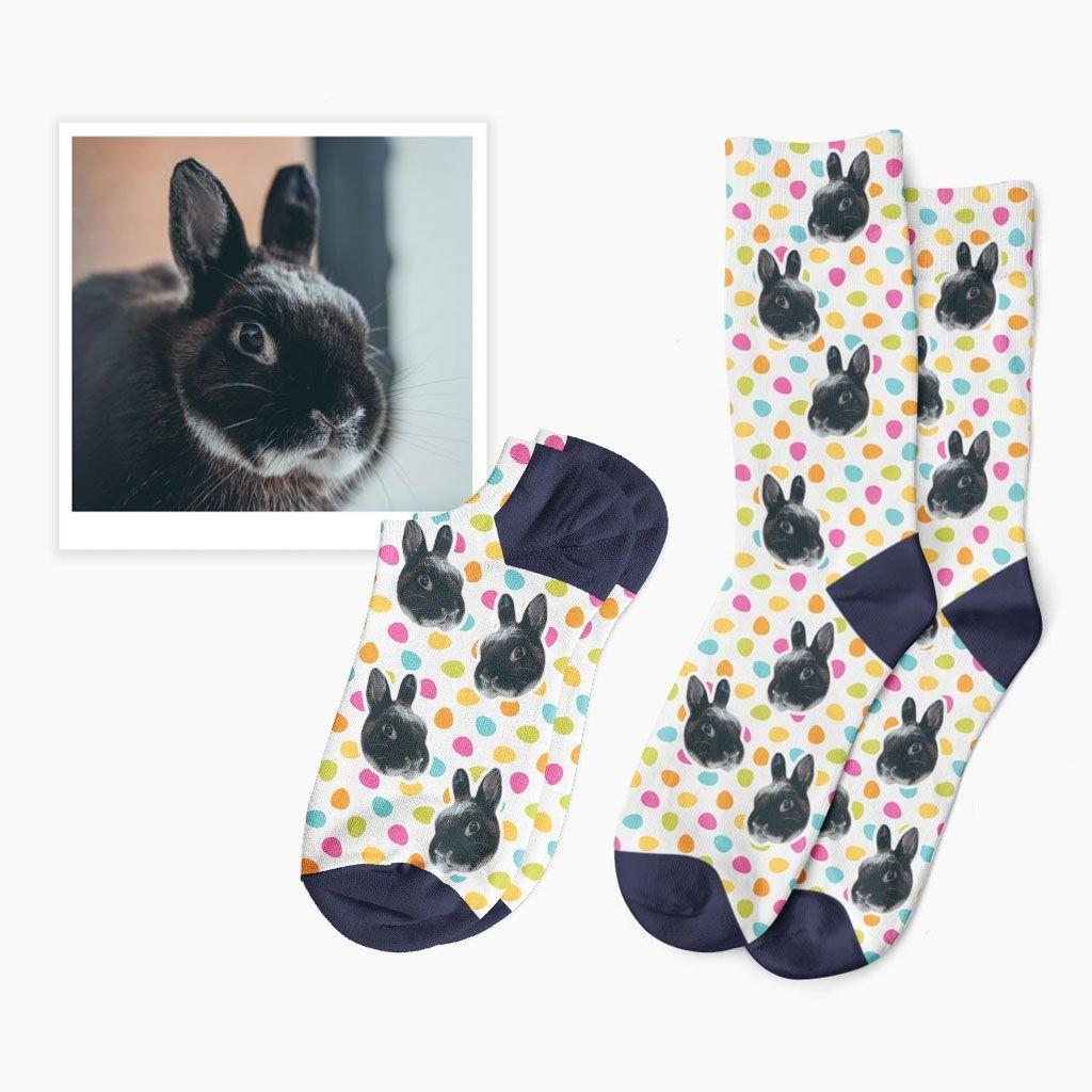 ponožky na velikonoce s fotkou
