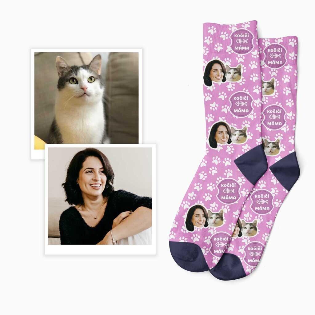 Ponožky kočičí máma