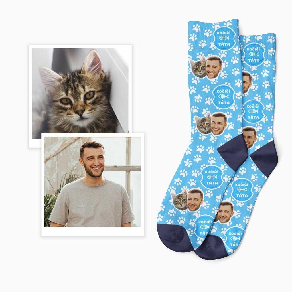 Ponožky kočičí táta