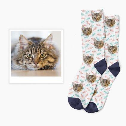 kočičí ponožky s vlastním potiskem