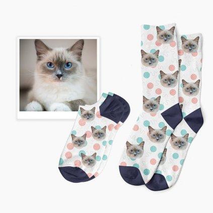 ponožky s potiskem kočky