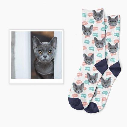 ponožky s fotkou