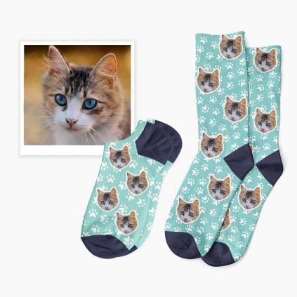 ponožky s vlastní kočkou