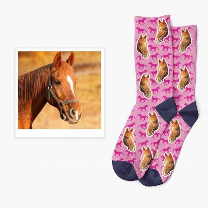 ponožky s vlastním koněm