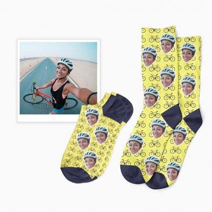 cyklistické ponožky s fotkou