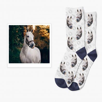 ponožky s fotkou vlastního koně