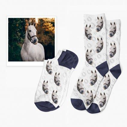 ponožky s fotkou koně