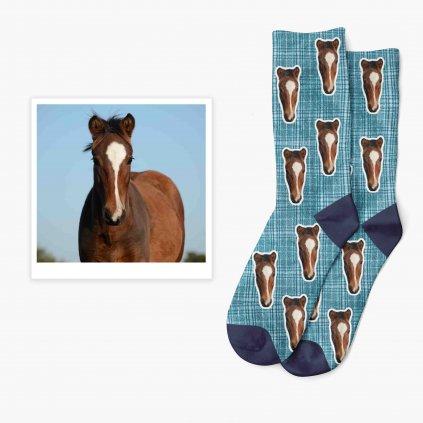 ponožky s fotkou s motivem rajtky