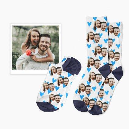 Srdíčkové ponožky s vlastní fotkou