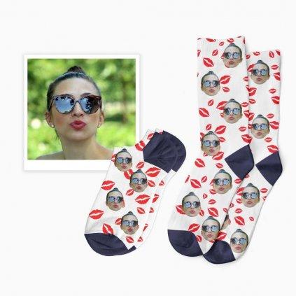 ponožky s pusinkama