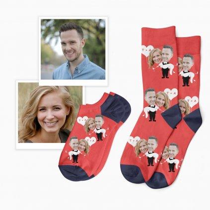 svatební ponožky s fotkou