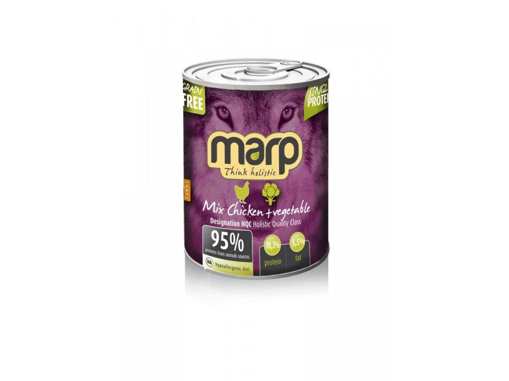 Marp Mix konzerva pro psy kuře+zelenina 400g
