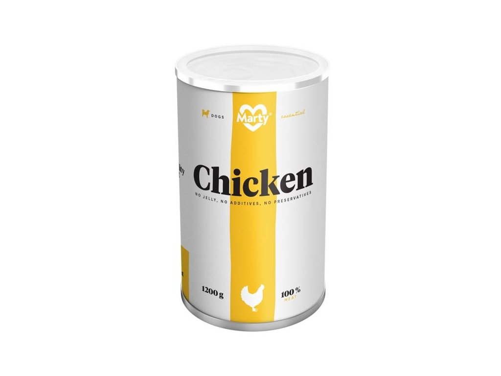 MARTY konz. pro psy - Essential kuře 1200 g
