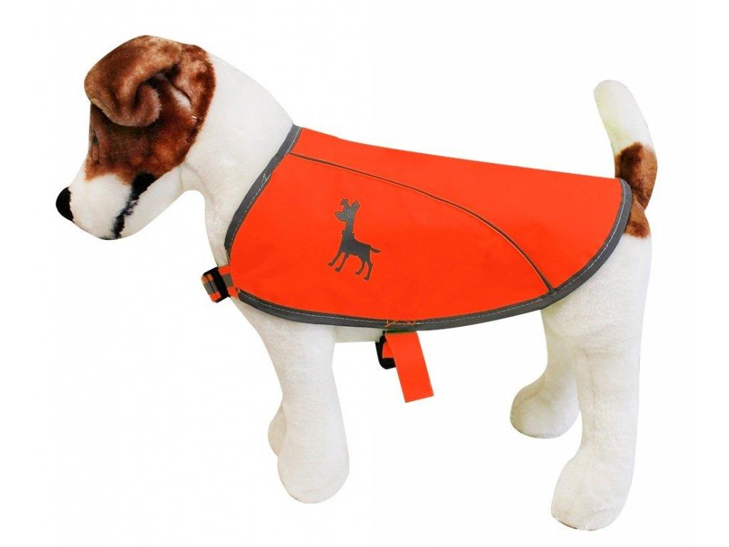 Alcott reflexní vesta pro psy, oranžová, velikost S