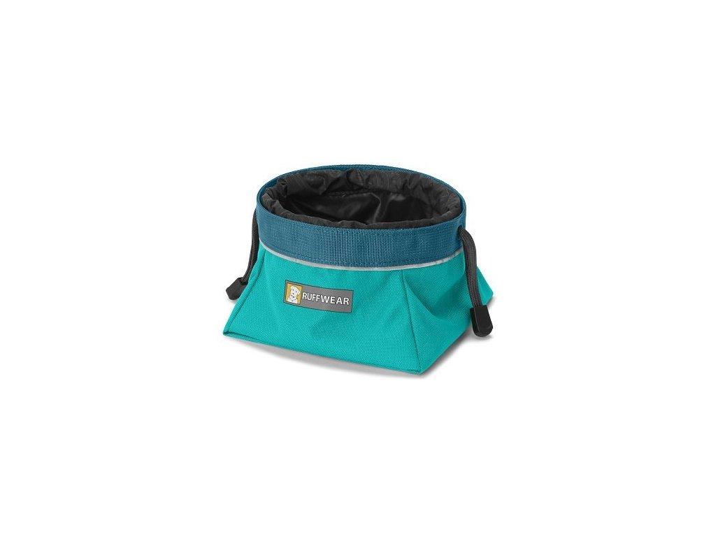 Ruffwear miska pro psy, Quencher Cinch Top, modrozelená, velikost M