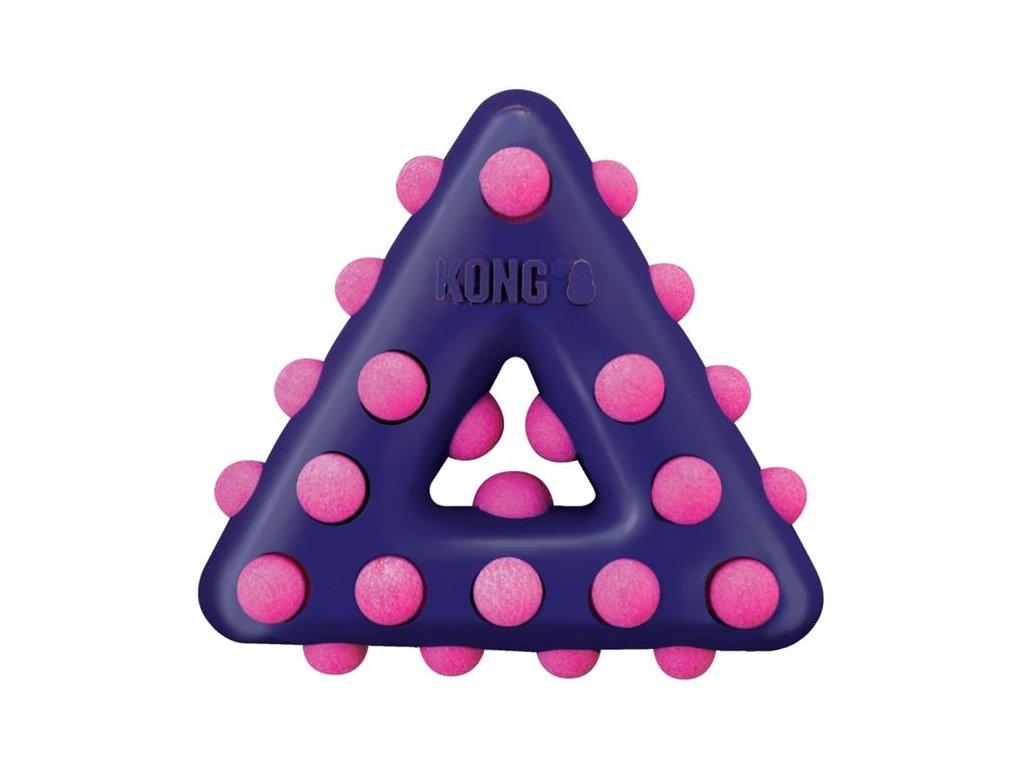 Hračka guma + pěna Dotz Trojúhelník Kong small