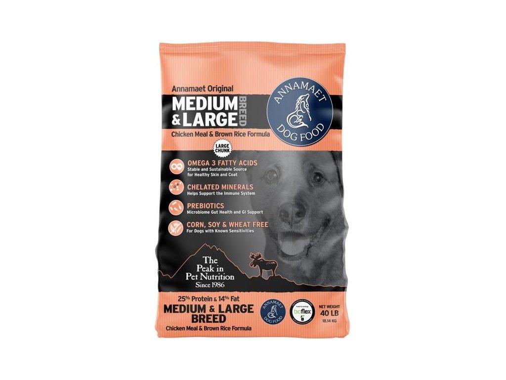 Annamaet ENCORE 25%/Medium&Large Breed 18,14 kg (40lb) - velké granule