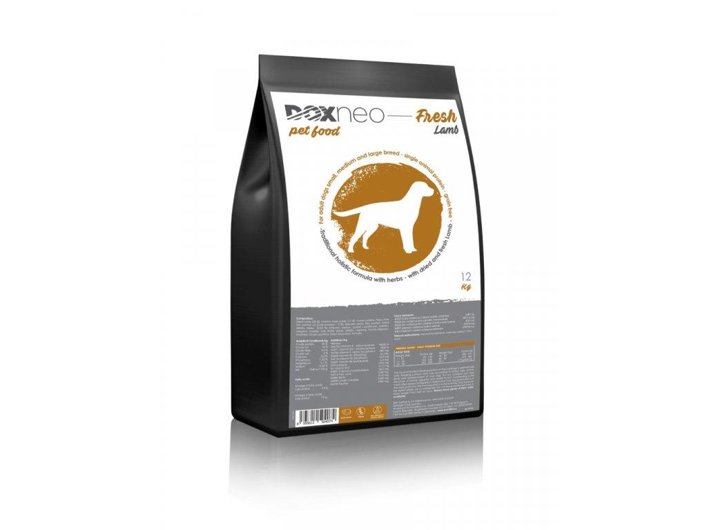 Doxneo Fresh Lamb - s čerstvým jehněčím 12kg