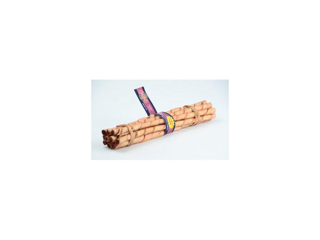 Tyčka z hovězí kůže Lamb 10ks – jehněčí – 25 cm