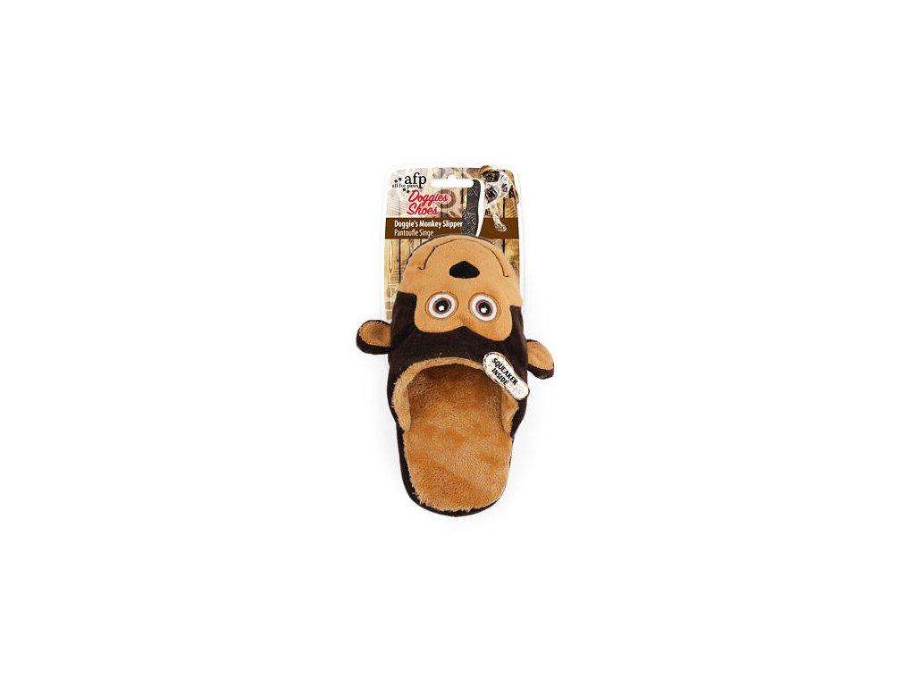 Plyšový pantofel AFP Doggies Shoes – opice