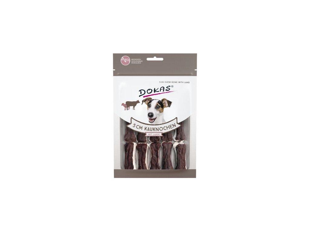 Dokas - Kosti z hovězí kůže s jehněčím - 5 cm