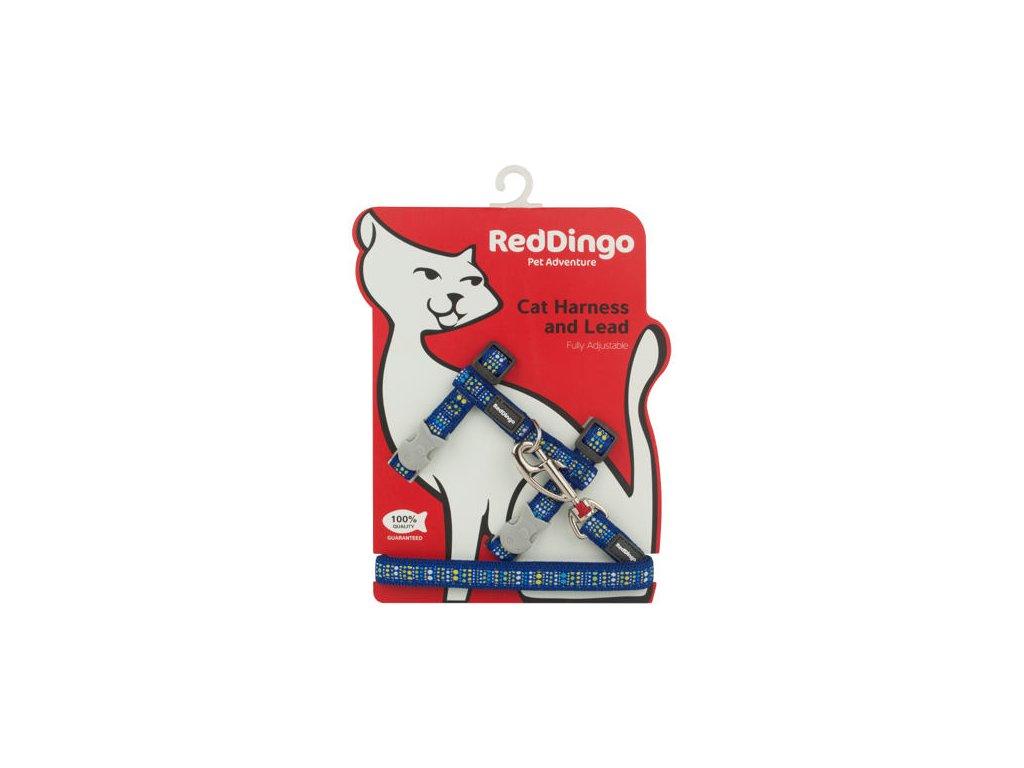 Postroj RD s vodítkem - kočka- Lotzadotz Blue