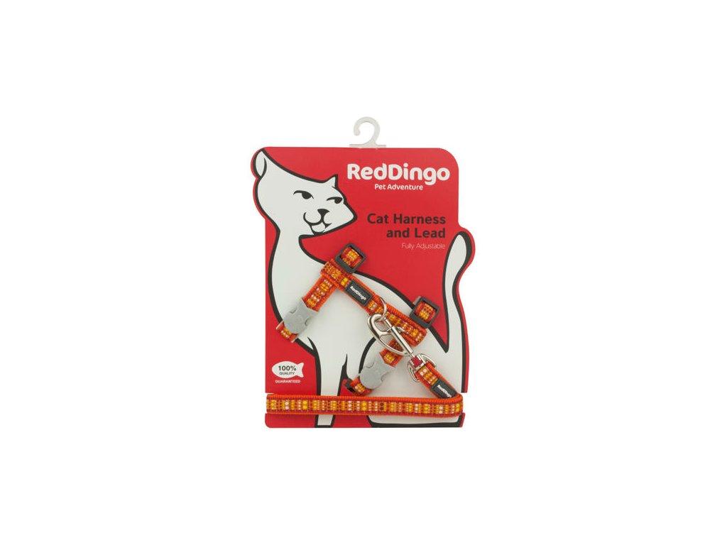 Postroj RD s vodítkem - kočka- Lotzadotz Orange