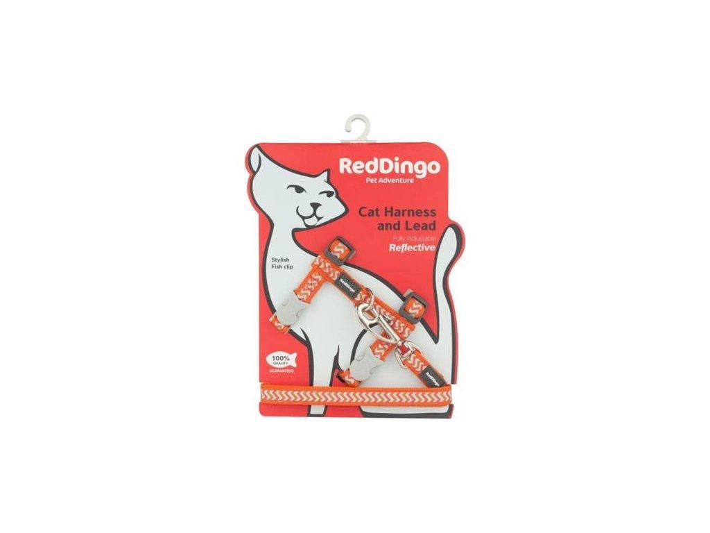 Postroj RD s vodítkem - kočka- Ziggy Rfx- Oranžová