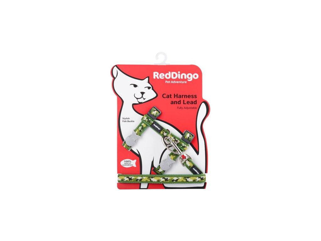 Postroj RD s vodítkem - kočka- Camouflage Green