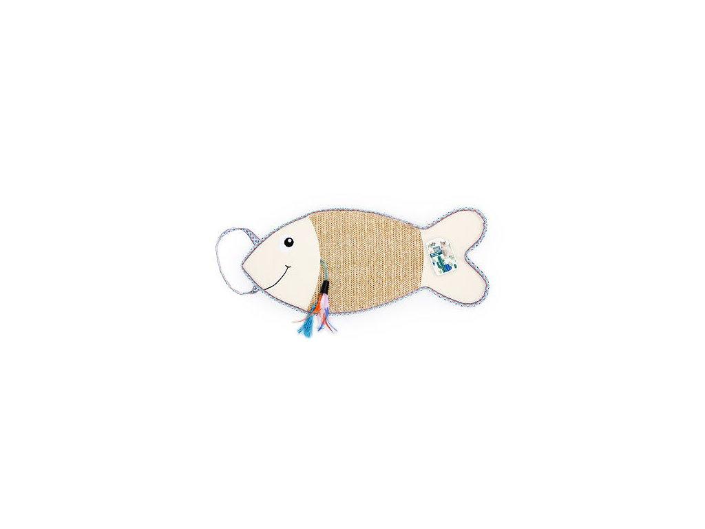 Závěsné škrabadlo ryba AFP Whisker Fiesta z umělého lýka