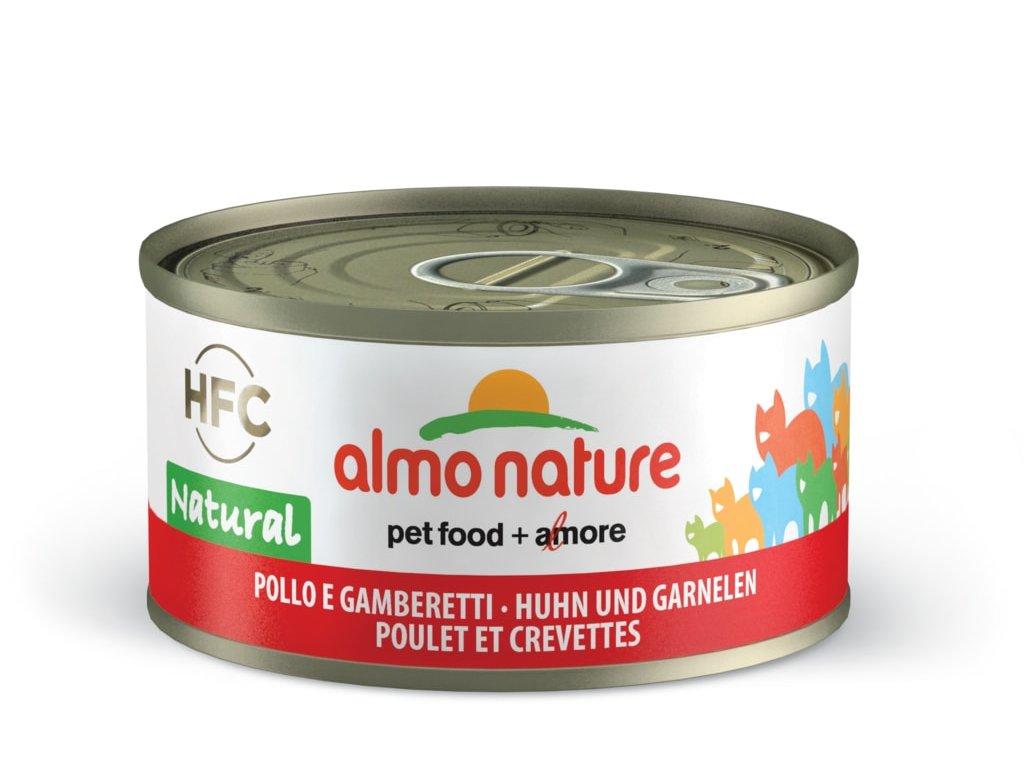 Almo Nature HFC WET CAT- Kuře a krevety 70g