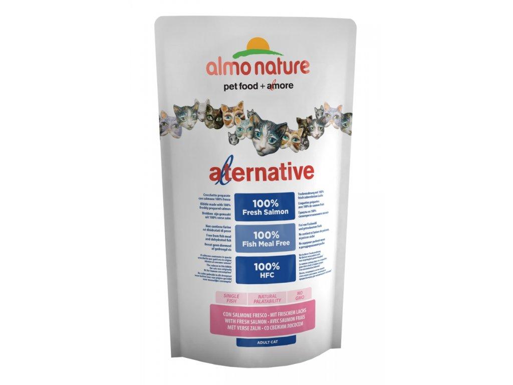 Almo Nature Alternative Dry CAT - Losos a rýže 750g - SLEVA 50% VÝPRODEJ