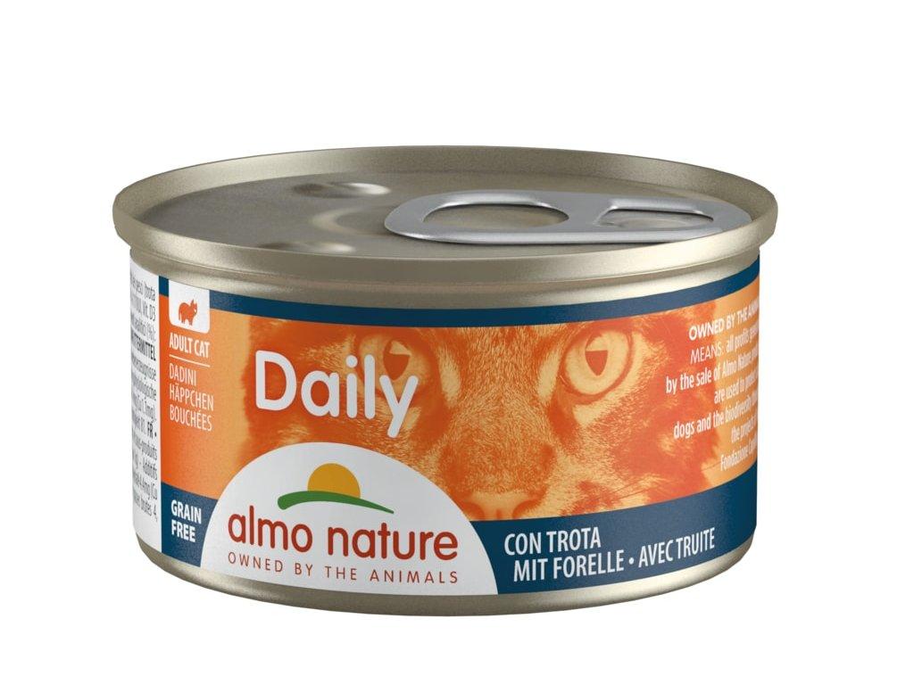 Almo Nature Daily Menu WET CAT - Kousky se pstruhem 85g