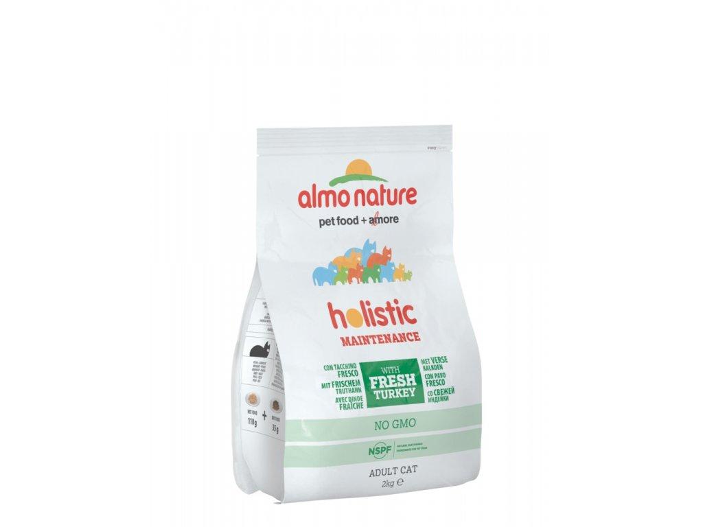 Almo Nature Holistic DRY CAT - Adult Krůtí a rýže 2 kg