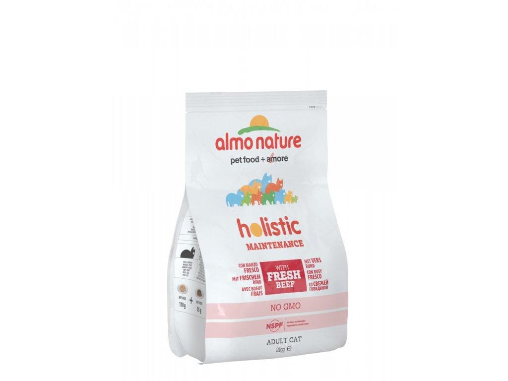Almo Nature Holistic DRY CAT - Adult Hovězí a rýže 2kg