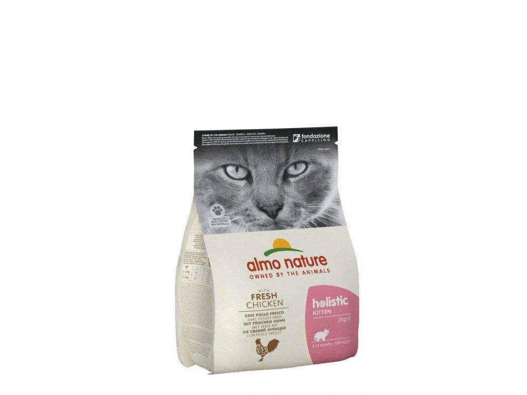 Almo Nature Holistic DRY CAT - Koťata Kuře a rýže 2kg