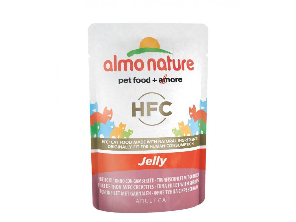 Almo Nature HFC Jelly - Tuňák a krevety v želé 55g