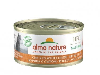 Almo Nature HFC WET CAT- Kuře a sýr 70g