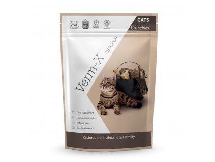 Verm-X Přírodní granule proti střevním parazitům pro kočky 120g